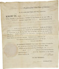 Autographs:U.S. Presidents, Thomas Jefferson Signed Land Grant. ...