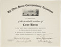 Autographs:U.S. Presidents, Harry S. Truman Document Signed, ...