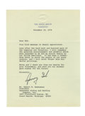 Autographs:U.S. Presidents, Gerald Ford Typed Letter Signed...
