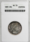 Barber Quarters: , 1893 25C AU55 ANACS. NGC Census: (5/212). PCGS Population (18/281). Mintage: 5,444,815. Numismedia Wsl. Price for NGC/PCGS ...