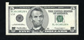 Error Notes:Attached Tabs, Fr. 1987-L $5 1999 Federal Reserve Note. Very Fine+.. ...