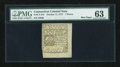 Colonial Notes:Connecticut, Connecticut October 11, 1777 Uncancelled 7d PMG Choice Uncirculated63....
