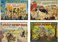 Books:Children's Books, Four Jolly Jump-Ups Pop-Up Books, including: ... (Total: 4 Items)