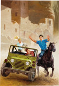 Mainstream Illustration, DANIEL R. HORNE (American 20th Century). Hardy Boys, Trouble atCoyote Canyon, 1993. Acrylic on board. 24 x 17 in.. Sign...