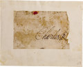 Autographs:Non-American, King Charles I of England, Signature, as King,...