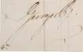 Autographs:Non-American, King George IV of England, Signature, as King,...