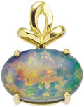 Estate Jewelry:Pendants and Lockets, Black Opal, Gold Pendant. ...