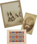 Photography:Cabinet Photos, Lot of Three Items Native American Related 1880s - ... (Total: 3 Items)