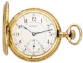 Timepieces:Pocket (post 1900), E. Howard, Scarce Series O, 23 Jewel Gold Hunters Case, circa 1910....