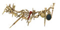 Timepieces:Other , Victorian Hardstone, Gold, Gold-Filled Bracelet With Watch Keys, circa 1860. ...