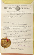 Miscellaneous:Ephemera, State of Texas Cattle Rustling Document 1895 - ... (Total: 2 Items)