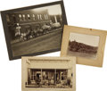 Photography:Cabinet Photos, Lot of Three Wagon Photographs ca 1880s-1890s - ... (Total: 3Items)