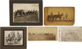 "Western Expansion:Cowboy, Lot of Five Cabinet Card Photographs of Wild West ""Cowboys"" ca1880s-1900 -... (Total: 5 Items)"