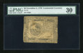Colonial Notes:Continental Congress Issues, Continental Currency November 2, 1776 $6 PMG Very Fine 30....