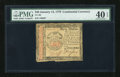 Colonial Notes:Continental Congress Issues, Continental Currency January 14, 1779 $40 PMG Extremely Fine 40EPQ....