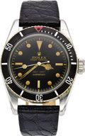 "Timepieces:Wristwatch, Rolex Men's Stainless Steel ""James Bond"" Submariner Wristwatch,ref. 5510, circa 1958. ..."