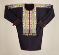 American Indian Art:Beadwork and Quillwork, A WINNEBAGO BEADED CLOTH SHIRT. c. 1885...