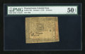 Colonial Notes:Pennsylvania, Pennsylvania October 1, 1773 18d PMG About Uncirculated 50 EPQ....