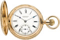 Timepieces:Pocket (pre 1900) , E. Howard Boston Pink Gold Series VII, circa 1895. ...