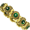 Estate Jewelry:Bracelets, Diamond, Jade, Gold Bracelet. ...
