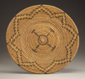 American Indian Art:Baskets, AN APACHE POLYCHROME COILED TRAY. c. 1920...