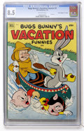"""Silver Age (1956-1969):Cartoon Character, Dell Giant Comics Bugs Bunny Vacation Funnies #2 Davis Crippen (""""D"""" Copy) pedigree (Dell, 1952) CGC VF+ 8.5 Off-white pages...."""