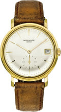 Timepieces:Wristwatch, Patek Philippe Men's Gold, Automatic Wristwatch, ref. 3445, circa1965. ...