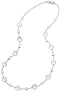 Estate Jewelry:Necklaces, Moonstone, Diamond, White Gold Necklace. ...