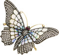 Estate Jewelry:Brooches - Pins, Diamond, Opal, Ruby, Silver-Topped Gold Brooch. ...
