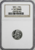 Proof Roosevelt Dimes: , 1950 10C PR67 Cameo NGC. NGC Census: (83/29). PCGS Population(53/13). (#85225)...