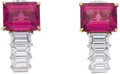 Estate Jewelry:Earrings, Tourmaline, Diamond, Platinum, Gold Earrings. ... (Total: 2 Items)