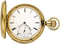 Timepieces:Pocket (pre 1900) , Jules Jurgensen, Copenhagen Gold Five Minute Repeater, circa 1885....