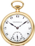 Timepieces:Pocket (post 1900), Patek Philippe Superior Grade Gold Watch, circa 1912. ...
