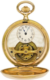 "Swiss Gold ""Mobilis"" Rare Tourbillon Hunters Case, circa 1900"