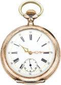 Timepieces:Pocket (pre 1900) , Isaac Grasset & Cie Rare and Interesting Special Patent Power Source Silver Watch, circa 1898. ...