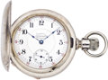 Timepieces:Pocket (pre 1900) , Illinois 23 Jewel Interstate Chronometer Silver Hunters Case, circa1911. ...