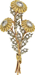Estate Jewelry:Brooches - Pins, Diamond, Gold Brooch, Buccellati. ...