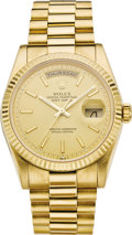 Timepieces:Wristwatch, Rolex Men's Gold Oyster Perpetual Day-Date President Wristwatch,circa 2002. ...