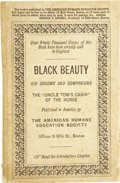 "Books:First Editions, A[nna] Sewell. Black Beauty: His Grooms and Companions. The""Uncle Tom's Cabin"" of the Horse. American edition. ..."
