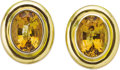Estate Jewelry:Earrings, Citrine, Gold Earrings, Paloma Picasso, Tiffany & Co., circa1970. ... (Total: 2 Items)