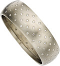 Estate Jewelry:Bracelets, Diamond, Titanium Bangle. ...
