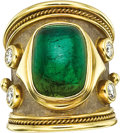 Estate Jewelry:Rings, Tourmaline, Diamond, Gold Ring, Elizabeth Gage. ...