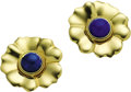 Estate Jewelry:Earrings, Lapis Lazuli, Gold Earrings. ... (Total: 2 Items)