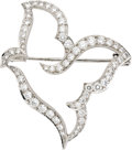 Estate Jewelry:Brooches - Pins, Diamond, White Gold Brooch, Van Cleef & Arpels. ...