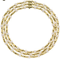 Cultured Pearl, Gold Necklace, Bvlgari