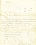 Western Expansion:Indian Artifacts, American Indian - A Fine Content Period Copy of a Letter...