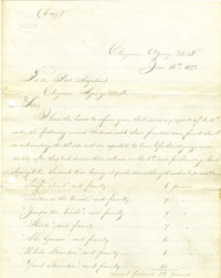 American Indian - A Fine Content Period Copy of a Letter