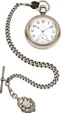 Timepieces:Pocket (post 1900), Elgin 23 Jewel Veritas Sterling Silver, Gold Watch & Chain,circa 1902. ...