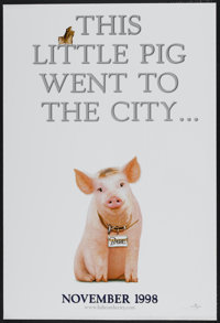 """Babe: Pig in the City (Universal, 1998). One Sheet (27"""" X 40"""") DS Advance. Family"""