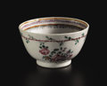 Asian:China Trade, A CHINESE EXPORT PORCELAIN TEA BOWL. Circa 1780. 1-3/4 inches (4.4cm) high. ...